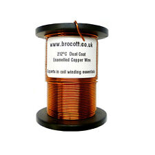 0.63mm - ENAMELLED COPPER WINDING WIRE, MAGNET WIRE, COIL WIRE - 125 Gram Spool