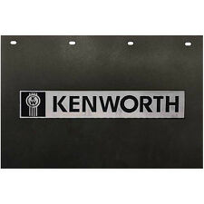"Kenworth Motors Trucks 24"" x 15"" Black & Silver Poly Semi Truck Mud Flaps-Pair"