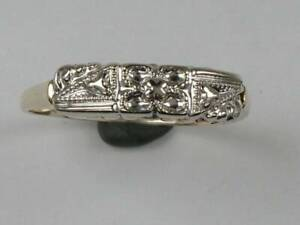 hcr29) Goldring  Ring bicolor Gold 585/-
