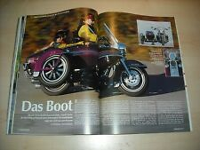 MO Magazin 1321) Harley-Davidson Road King TLE-Seitenwagen mit 58PS im TEST a