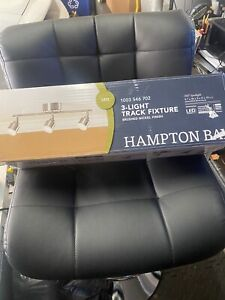 Hampton Bay 3 Light Track Fixture Brushed Nickel LED 350 Degree Spotlight