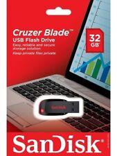 SanDisk 32GB Cruzer Blade USB 2.0 SD CZ50 32G USB FLASH DRIVE SDCZ50-032G