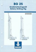 Equipment Brochure - Bauer - BG 25  - Rotary Drilling Rig - c2002 (E3436)