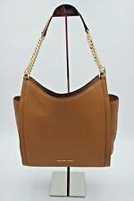 NWT MICHAEL Michael Kors Newbury Brown Leather Chain Shoulder Bag Tote New