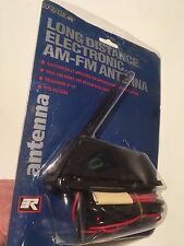 """LONG DISTANCE ELECTRONIC AM-FM ANTENNA, TELESCOPES 3""""-14"""", FITS ALL CARS/TRUCKS"""
