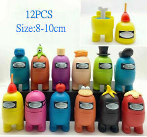 12PCS/Sets Among Us Game PVC Action Figure Separable Toy Cake Topper Kids Toys