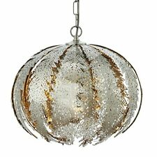 Contempary Leaf Design Kitchen Dining Pendant Light Fitting Satin Nickel
