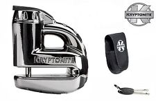 KRYPTONITE MOTORBIKE / SCOOTER KEEPER DISC LOCK 5s - CHROME WITH TRAVEL POUCH