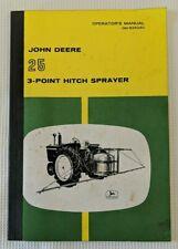 Vintage Original John Deere 25 3-point Hitch Sprayer Operator's Manual Om-B25280
