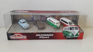 Majorette VW Geschenk Set Giftpack Käfer Bulli Beetle T6 Modellautos model cars