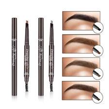 Waterproof Eyebrow Pencil Eye Liner Pen Makeup Cosmetic Brush Lastin Natural