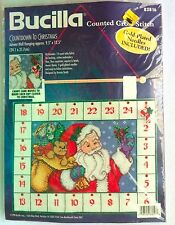 Bucilla Countdown to Christmas 83816 Advent Wall Hanging Counted Cross Stitch
