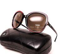 CHANEL 5320 1518/S7 Sunglasses Dark Havana & Red ~ w/ Case