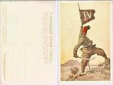 2114) Cartolina Campagne d'Africa IV Battaglione Coloniale Eritreo Toselli