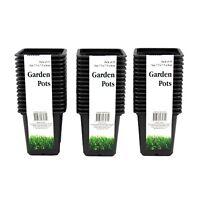 45 X Garden Seeding Pot Square Pots Plant Nursery Soft Plastic Mini 7.5X7.5X8cm