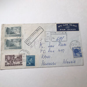 1964 Canada Registered cover to Northern Nigeria