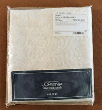 JCPENNEY HOME COLLECTION SHARI SWAG   CURTANN   CREAM  78IN X 30 IN  SET OF 3