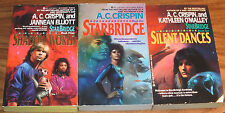 Lot of 3 A.C.CRISPIN PB*SIGNED*NFINE Starbridge 1,2,3 Silent Dances+Shadow World
