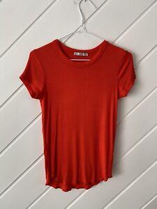 Zara - Ladies Fire Engine Red T-Shirt - Size M.