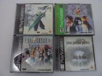 Lot of 4 - Final Fantasy VII VIII IX 7 8 9 & Tactics (Playstation, PS1) Complete