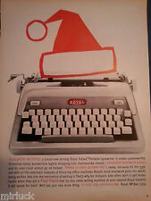 1959 Royal Futura Electric Portable Typewriter Santa Claus Hat Art Original Ad
