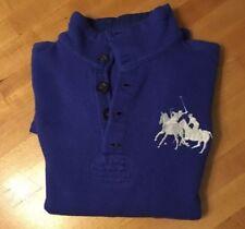 Polo Ralph Lauren Big Pony Mercer Team Winter Cup 2008 Blue Mens L Wool Sweater