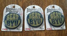 NOTRE DAME FIGHTING IRISH BIG TIME GAME BUTTONS PIN BEAT BYU NEW