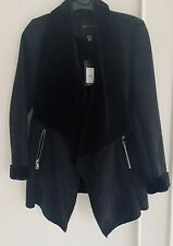 Black Coat  Suede & Faux Fur Size 12 Brand New With Tag Bought From New Look £45