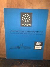 Fanon InterCommunication Systems -Catalog- Consumer Intercoms.