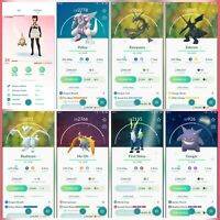 Pokemon Account Go Level 34 | 33 Shiny (Rare) | 112 Legendary (Rare)| 18 lV100