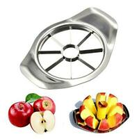 Edelstahl Obst Apfel Easy Cut Slicer Cutter Teiler Werkzeug Silber DIY
