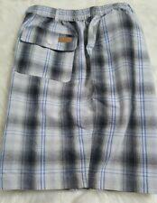 Men's HABAND CASUAL JOE SHORTS Size 40 Elastic Waist Five pockets plaid H-16