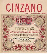 ANTICA ETICHETTA - VERMOUTH - FRANCESCO CINZANO E COMP. - TORINO