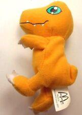 "McDonald's 2001 Digimon Agumon 5"" Plush Dinosaur Orange"
