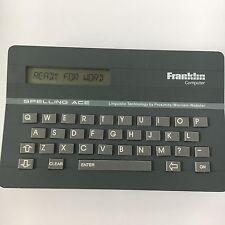 Franklin Spelling Ace Merriam Webster Electronic Handheld