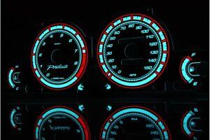 Honda Prelude 5 gen. glow gauges dials plasma dials kit tacho glow dash shift in