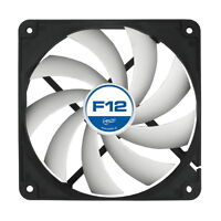[ARCTIC] F12 120mm High Performance Ultra Quiet Case Fan, 3pin, White Blade