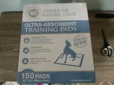 "american kennel club training pads 22"" x 22"" , 150 pads"