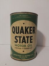 Original Early Quaker State 5 Quart Pennsylvania Seal Motor Oil Can