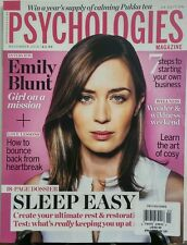 Psychologies Magazine Nov 2016 Emily Blunt Sleep Easy Rest FREE SHIPPING sb