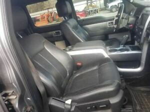 2013 FORD F150 FX4 PASSENGER FRONT SEAT ASSEMBLY BLACK LEATHER POWER HEAT COOL