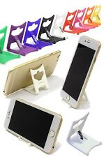 iPhone 6 Gold Holder: WHITE iClip Folding Travel Desk Display Stand