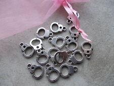 20 X Esposas Color Plateado Tibetano Metal charms/pendants,