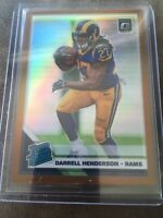 Darrell Henderson 2019 Donruss Optic Bronze Prizm Rated Rookie #160 RC Rams