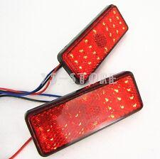 2x Motorcycle Bike ATV Truck RED LED Rectangle Reflector Tail Brake Marker Light