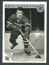 Phil Goyette Montreal Canadiens 1992 Ultimate Original Six Auto Card #11