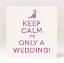 Handmade Keep Calm It's Only A Wedding  Card