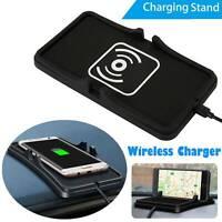 10W Qi Auto Handyhalterung Halter KFZ  Wireless Charger Ladegerät Pad Ladematte