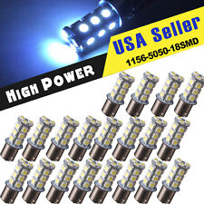 20 X Cool White RV Camper Backup Reverse 1156 1141 1073 BA15S 18-LED Light bulbs