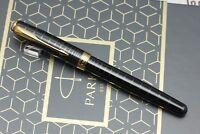 Parker Sonnet Dark Grey Laque GT Fountain Pen - New
